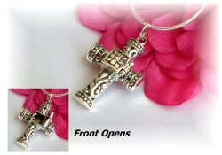 Sterling Silver Prayer Box Necklace