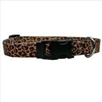 leopard design buckle dog collar