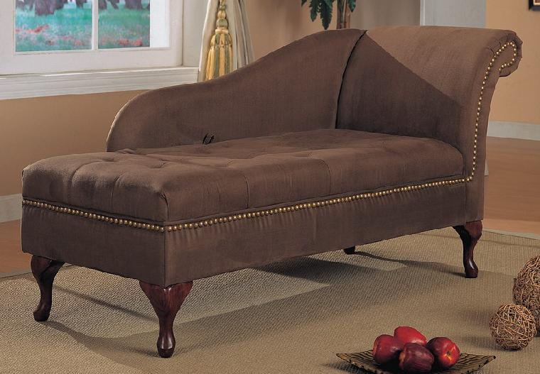Microfiber Chaise with Storage