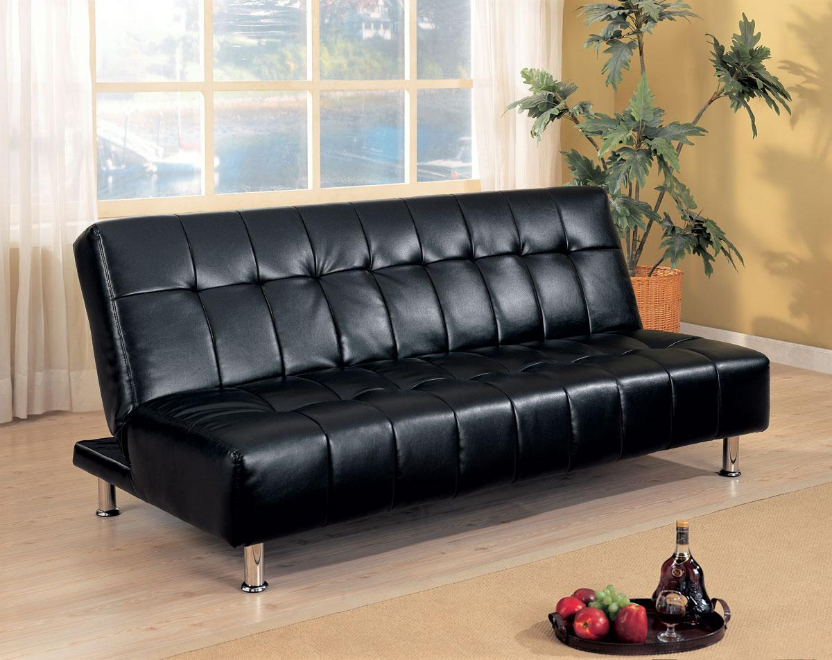 Black futon sofabed for Black sofa bed for sale