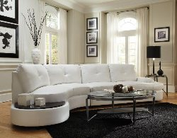 White Sectional Sofa Leather Sectionals With Built In Table Online Furniture