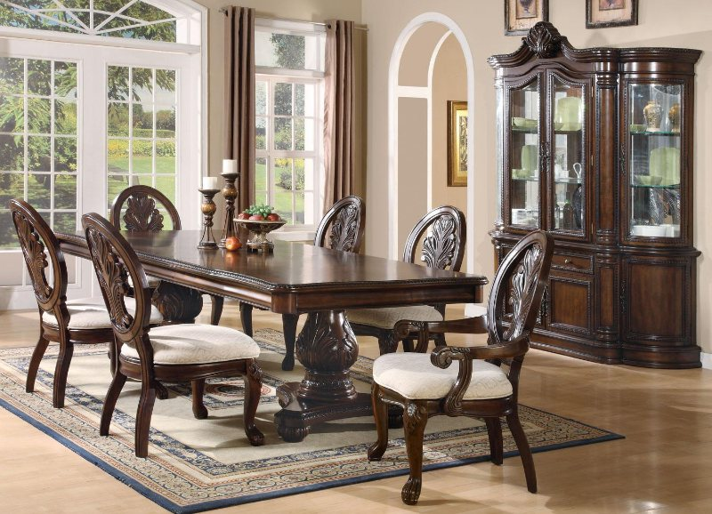Wood Dining Sets   Formal Dining Room Furniture   Cherry Dining Room Table  And Chairs