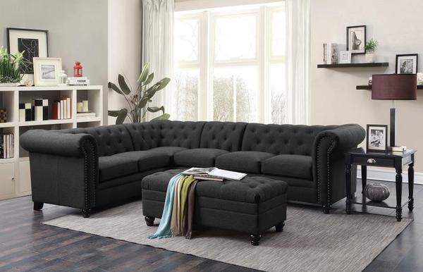 Roy Grey Linen Sectional